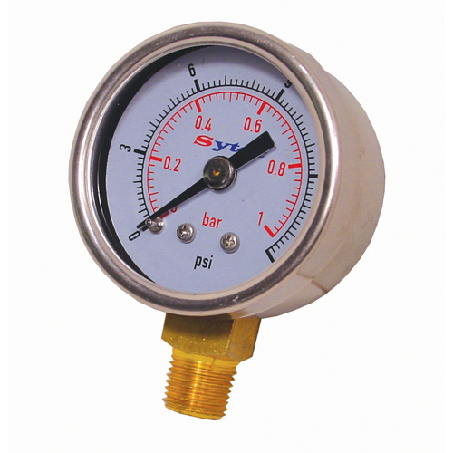 Sytec Fuel Pressure Gauge 0-15 PSi / 0-1 Bar (for setup only)