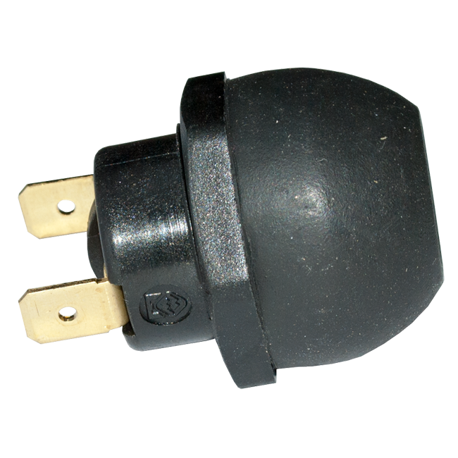 Waterproof Push Button Switch 22mm Spade Terminals