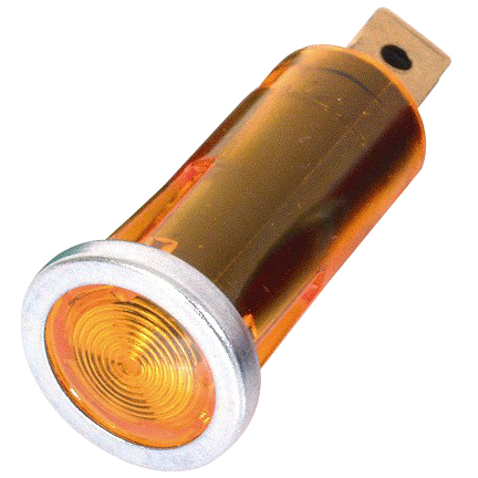 12mm Warning Light - Amber Lens