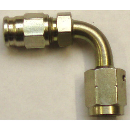90� Elbow Female swivel concave seat hose fitting - (M10 x 1)