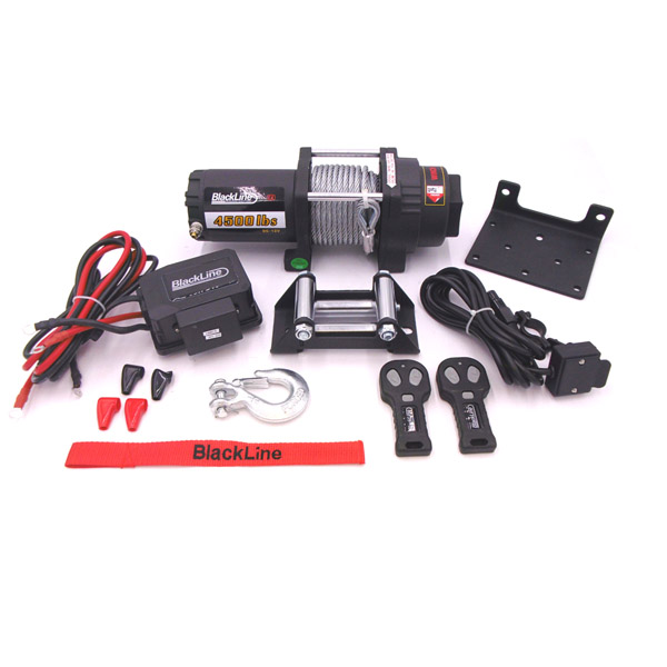 Blackline 4500lb, 12v Electric Wire Winch
