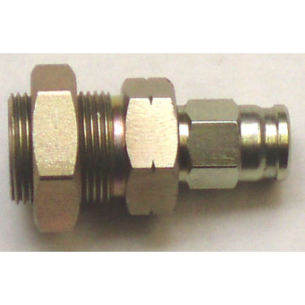 Hose Fitting M10 female bulkhead (with nut), concave