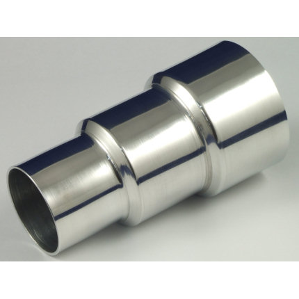 Aluminium Hose Reducer - 3 Step - 102 > 89 > 76mm O.D.