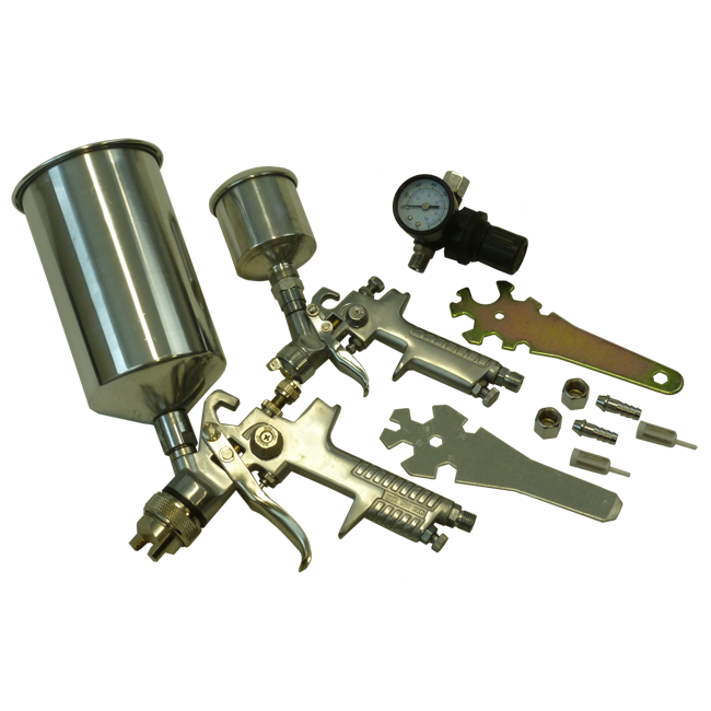 Blackline 3pc Spray Gun Kit HVLP