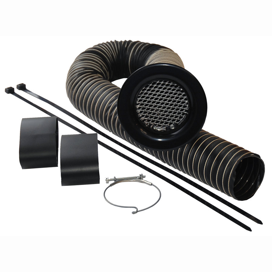 Cold Air feed Kit - 76mm Ø hose - Black
