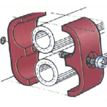 Double Place T-Clamp - 3/8 - 3/8