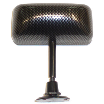 Kit Car Centre Mirror - Carbon Effect - Flat Glass