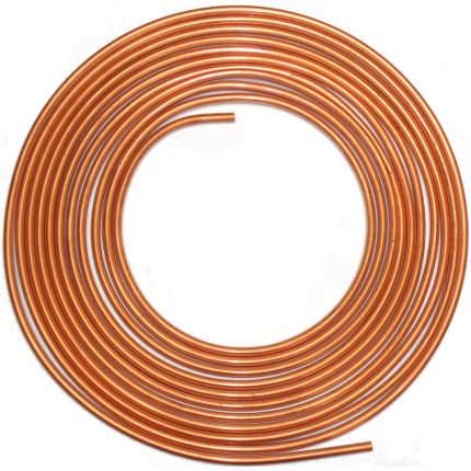 Copper Brake Pipe 3/16 - 25 Foot Coil