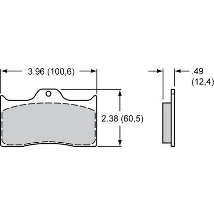 Mintex 1144 Wilwood Dynalite 4 Pot Caliper Brake Pads MDB1796M1144