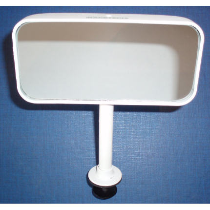 Flat Glass - Flat Base Mount - White - Straight stem