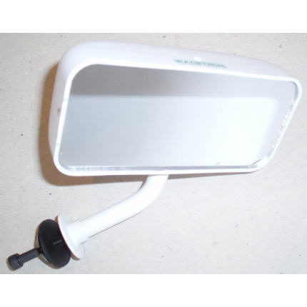 Flat Glass - Flat Base Mirror - White