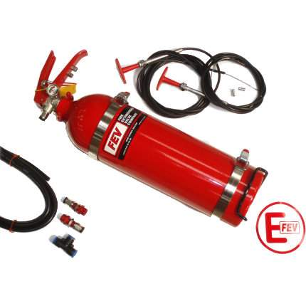 2.25 Ltr Slimline Plumbed In Fire Extinguisher - FEV