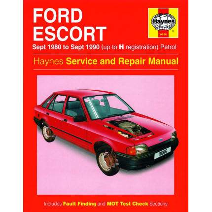 Ford Escort inc XR3i, RS Turbo (1980-1990)