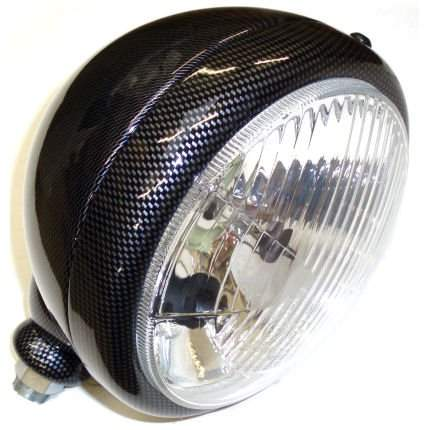 Carbon Fibre Effect 5-3/4 Headlights (pair)