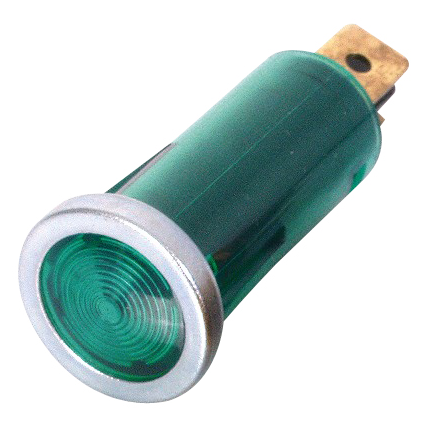 12mm Warning Light - Green Lens