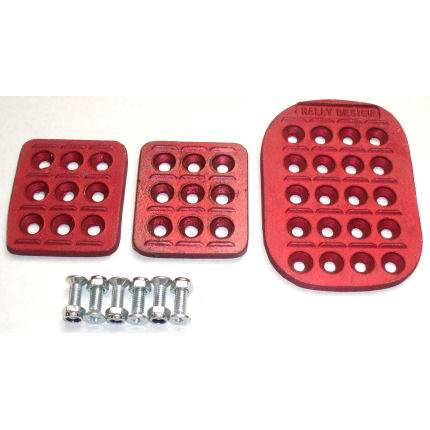 Rally Design Pedal Plate Set Red