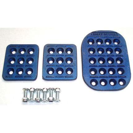 Rally Design Pedal Plate Set Blue
