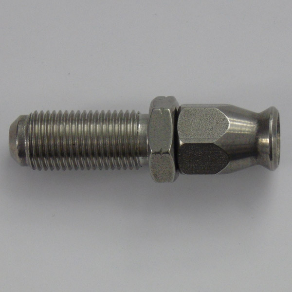 Stainless Male Bulkhead Convex Seat Hose Fitting - M10 x 1