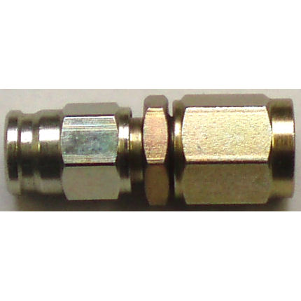 Female swivel convex seat hose fitting - (3/8 x 24 UNF)