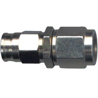 Female swivel concave seat hose fitting - (3/8 x 24 UNF)