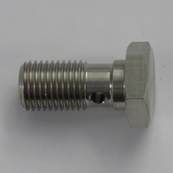 Stainless 20mm Single Take Off Banjo Bolt - 3/8 x 24 UNF