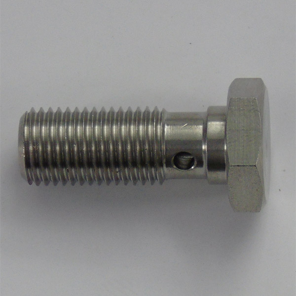 Stainless 31mm Twin Take Off Banjo Bolt - 3/8 x 24 UNF