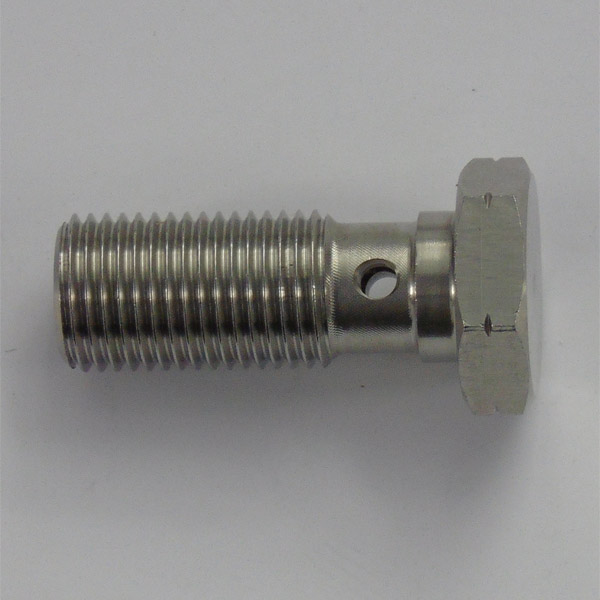 Stainless 25mm Single Take Off Banjo Bolt - M10 x 1