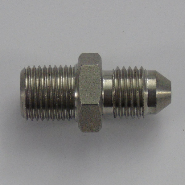 Stainless 1/8 NPT To 3/8 x 24 UNF Male/Male Adaptor