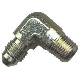 Hose Fitting 1/8 NPT to 3/8 x 24 - 90° male/male fitting