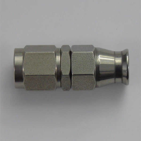 Stainless Female Swivel Concave Seat Hose Fitting - 7/16 UNF