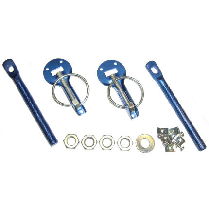 Bonnet Pin Kit Aluminium - Sleeve Type (Red/Blue/Gold/Black)
