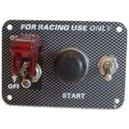 Ignition Switch / Aircraft Cover & Start +1 Accs - Carbon Effect
