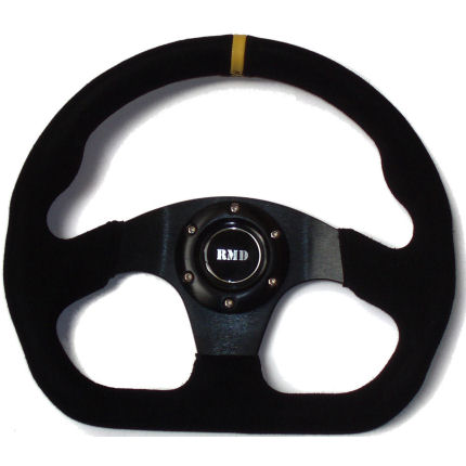 Formula `D` 320mm Wheel Black Suede