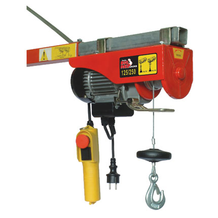 Big Red Electric Hoist - Max 200kgs (Double Hook)