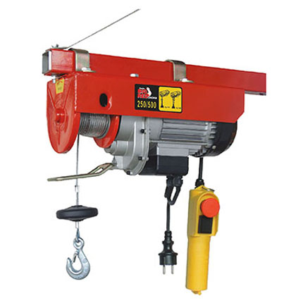 Big Red Electric Hoist – Max 500kgs (Double Hook)