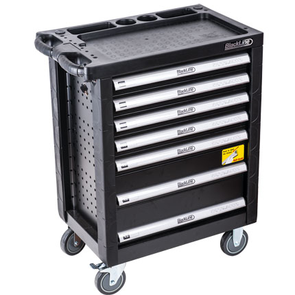 Blackline 7 Drawer Roller Cabinet
