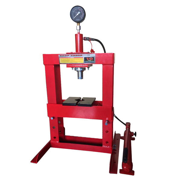 Big Red 10 Ton Hydraulic Bench Type Press