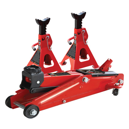 Big Red 3 Ton Trolley Jack & 3 Ton Double Locking Axle Stands
