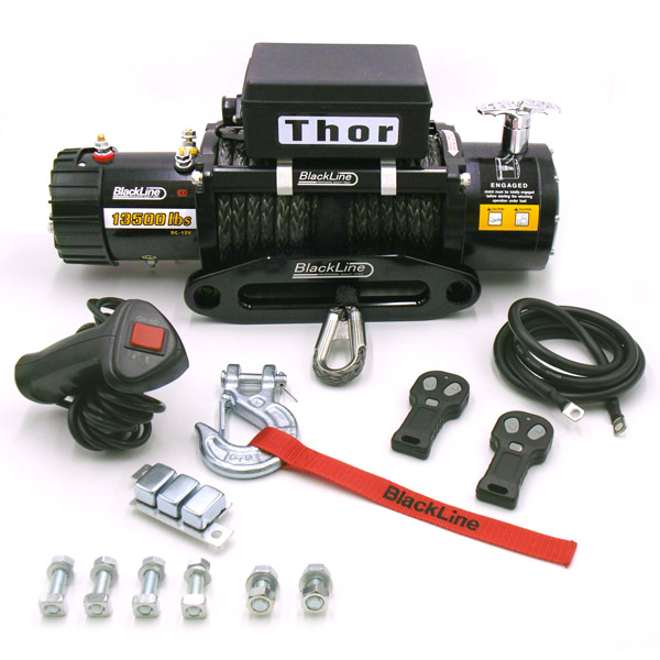 Blackline Thor 4x4 13500lb Rope Winch