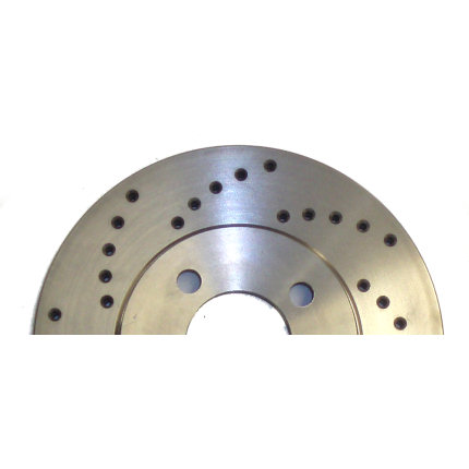 257mm Escort Princess 4-Pot Conversion Discs X-Drilled (Pair)