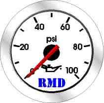 RMD Oil Pressure Gauge 0>100PSi - 50mm Diameter - Mechanical