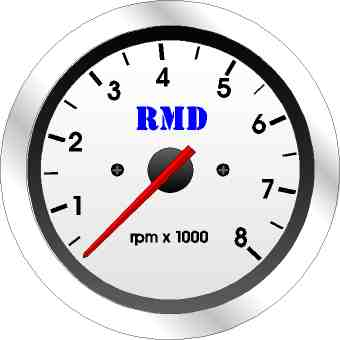 RMD Tacho Gauge 0>8000RPM - 80mm Diameter - Electronic