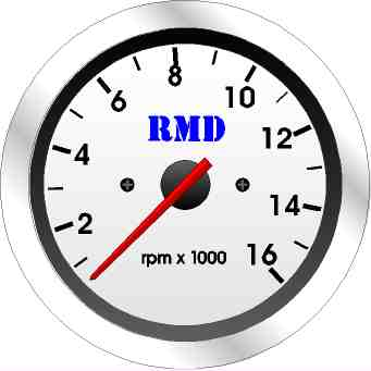 RMD Tacho Gauge 0>16000RPM - 80mm Diameter - Electronic
