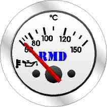 RMD Oil Temp Gauge 50>150 C - 50mm Diameter - Electronic