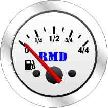 RMD Fuel Gauge - 50mm Diameter - Electronic