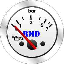 RMD Oil Pressure Gauge 0>8 BAR - 50mm Diameter - Electronic